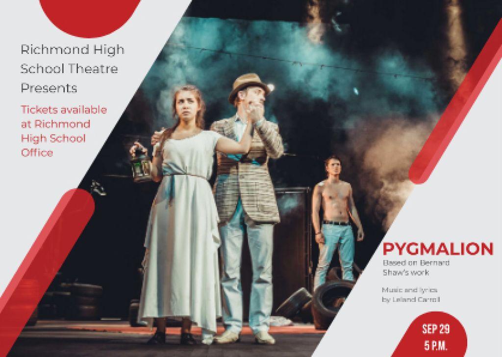 Theater Invitation Actors in Pygmalion Performance — Crear un diseño