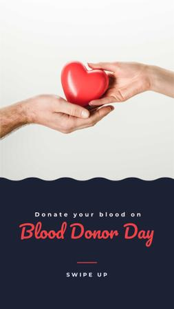 Blood Donor Day Announcement Instagram Story Design Template