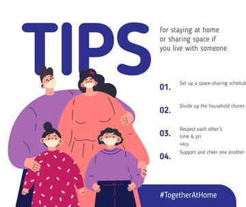 #TogetherAtHome Tips for staying home with Family in masks