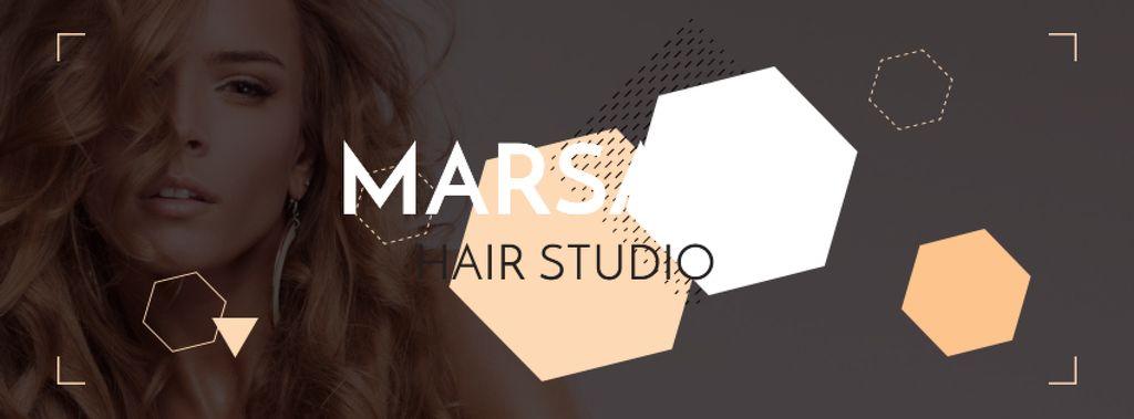 Hair studio Offer with Girl in earrings - Bir Tasarım Oluşturun