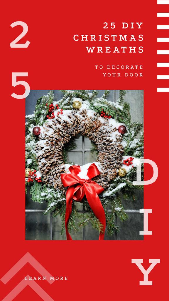 Shiny Christmas wreath — Crear un diseño