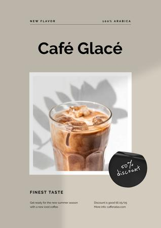 Cup of Iced Coffee Poster Design Template
