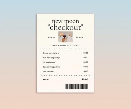 Plantilla de diseño de New Moon Checkout Announcement Facebook