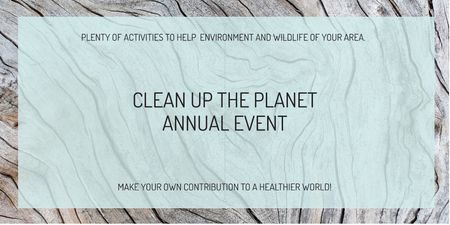 Template di design Clean up the Planet Annual event Twitter