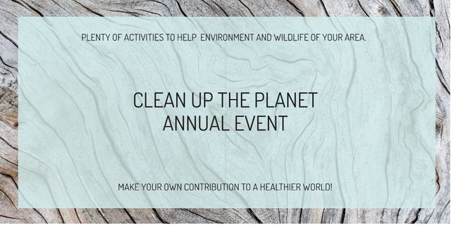 Clean up the Planet Annual event Twitter Design Template