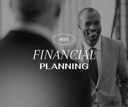 Modèle de visuel Smiling Businessmen for Financial Planning - Facebook