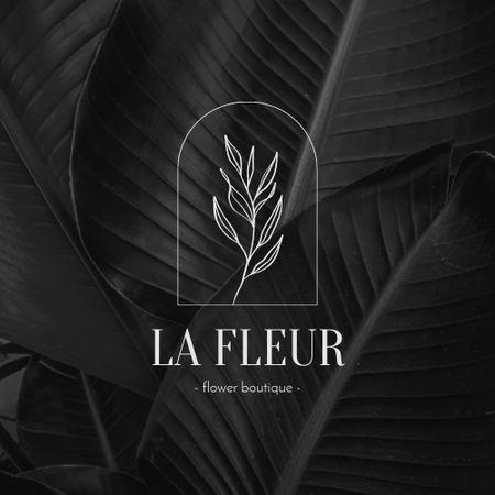 Flower Boutique Offer with Plant Illustration Logo – шаблон для дизайну