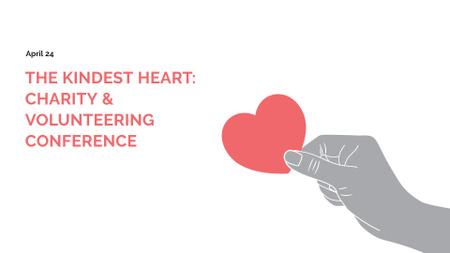 Plantilla de diseño de Charity Event Announcement with Heart in Hand FB event cover