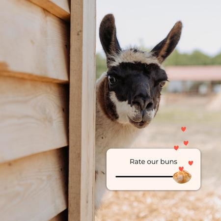 Bakery Promotion with Funny Alpaca Instagram – шаблон для дизайну