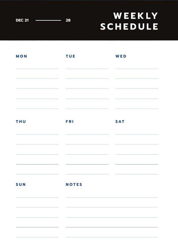 Simply Weekly plan — Crear un diseño