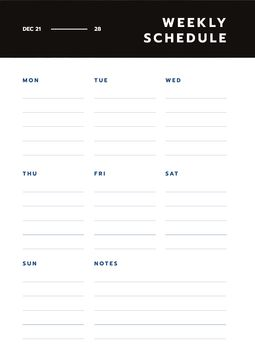 Simply Weekly plan