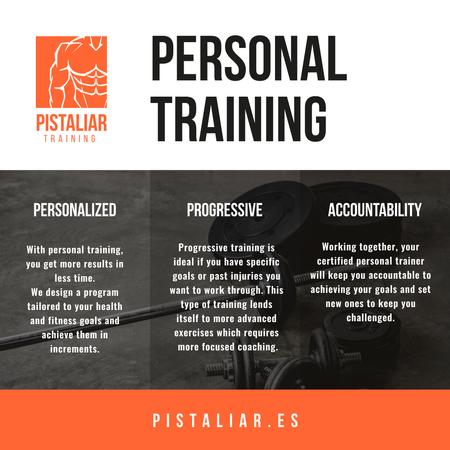 Modèle de visuel Personal training Offer with Sports Equipment - Instagram