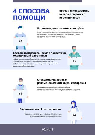 #FlattenTheCurve Doctors with Protective measures against covid-19 Poster – шаблон для дизайна