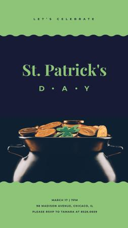 Saint Patrick's Day attributes Instagram Story Modelo de Design