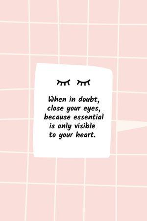 Plantilla de diseño de Motivational Quote on pink tile Tumblr