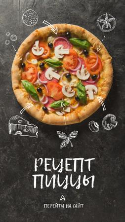 Delicious Italian Pizza menu Instagram Story – шаблон для дизайна