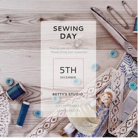 Plantilla de diseño de Sewing day event Announcement Instagram