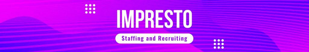 Recruiting agency profile on blue Digital pattern — Maak een ontwerp