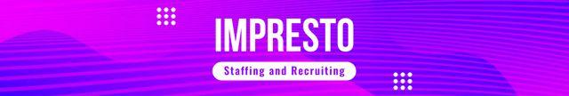 Template di design Recruiting agency profile on blue Digital pattern LinkedIn Cover
