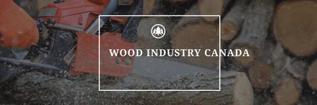Wood industry Ad Email headerデザインテンプレート
