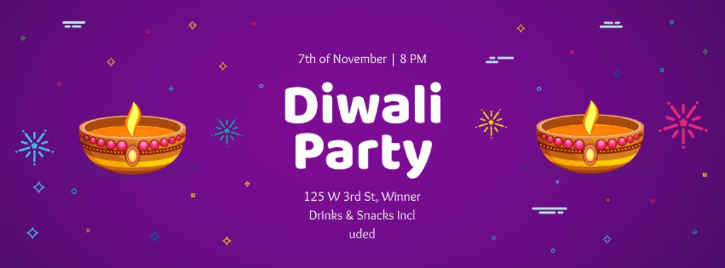 Happy Diwali Party celebration — Modelo de projeto