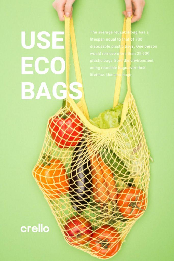 Szablon projektu Fresh Vegetables in Net Bag Tumblr
