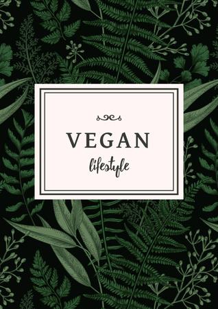 Modèle de visuel Vegan Lifestyle Concept with Green Leaves - Poster