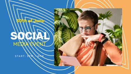 Ontwerpsjabloon van FB event cover van Social Media Event Announcement