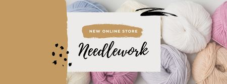 Template di design Colorful Threads for Sewing and Knitting Facebook cover