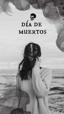 Dia de los Muertos Celebration with Young Smiling Girl Instagram Story – шаблон для дизайна