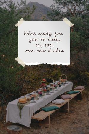 Plantilla de diseño de Cozy Festive Table in Garden Pinterest