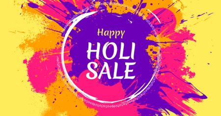 Holi Festival Sale Offer Facebook AD Design Template