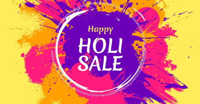 Holi Festival Sale Offer Facebook AD – шаблон для дизайну