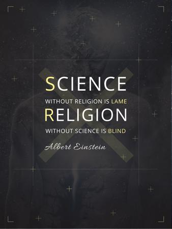 Religion Quote with Human Image Poster US Tasarım Şablonu