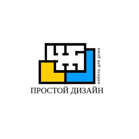 Design Studio with Geometric Lines Icon Logo – шаблон для дизайна