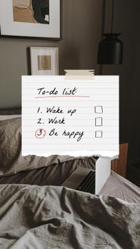 To-do List with Cozy Bedroom and Laptop