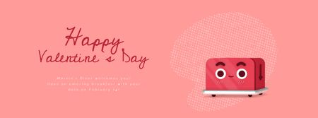 Ontwerpsjabloon van Facebook Video cover van Valentine's Day Bouquet and Envelope