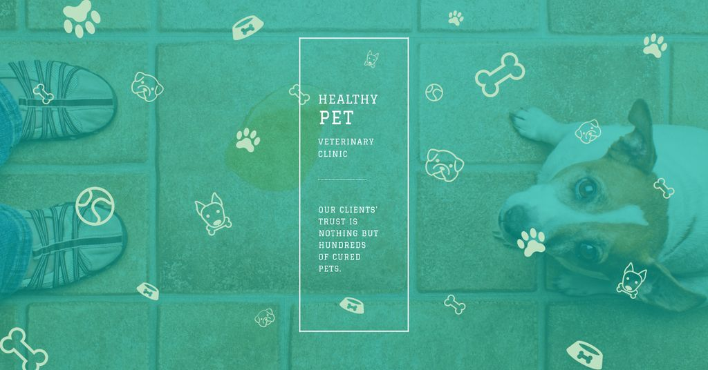 Pet veterinary clinic Ad with Cute Puppy — Crear un diseño