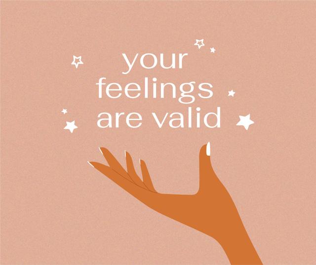 Modèle de visuel Inspirational Phrase about Mental Health - Facebook