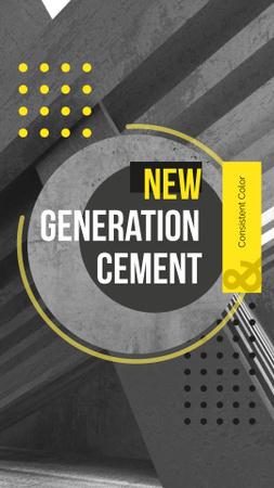 Modèle de visuel Concrete structure walls for Cement company - Instagram Story