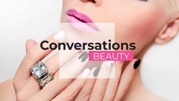Beauty conversations Ad with Attractive Woman