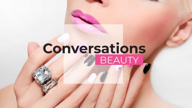 Szablon projektu Beauty conversations Ad with Attractive Woman Youtube