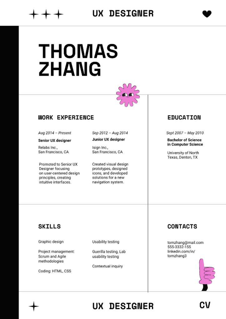 Web Designer skills and experience Resume – шаблон для дизайна