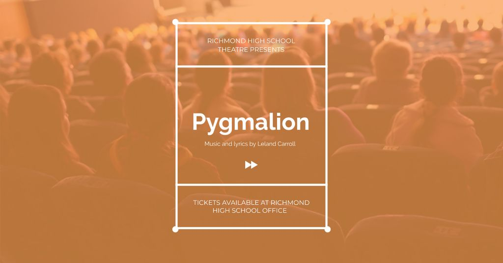 Pygmalion performance with People in Theatre — Create a Design