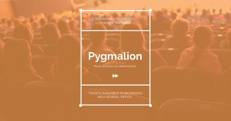 Pygmalion performance with People in Theatre Facebook AD Design Template