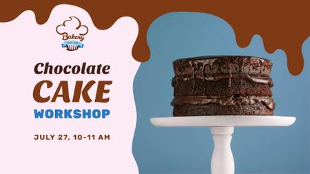 Chocolate cake workshop promotion FB event cover – шаблон для дизайна