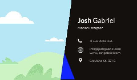 Ontwerpsjabloon van Business card van Motion Designer professional contacts