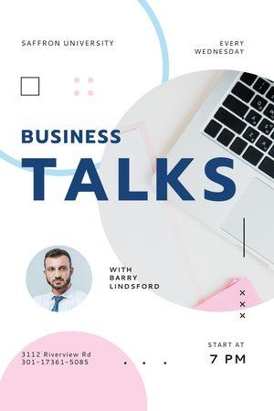 Business Talk Announcement with Confident Businessman Tumblr tervezősablon