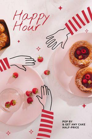 Plantilla de diseño de Cafe offer with Berry Desserts Tumblr