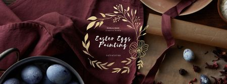 Plantilla de diseño de Coloring Easter eggs on kitchen Facebook Video cover